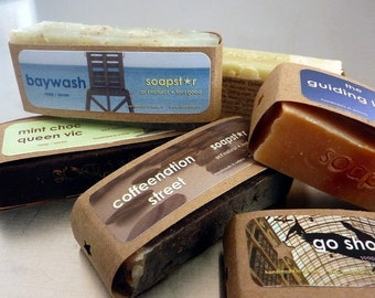 The Mini Series - your choice of 3 mini soaps cold process natural guest bars