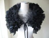 BLACK RUFFLED COLLAR  The Black Swan by MaggieGlynn
