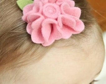 Pink Felt Flower Daisy Hair Clips - Perfect for Kids, Teens and Adult Women