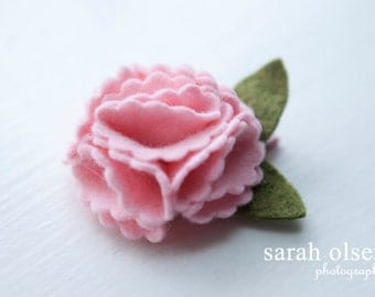 Pink Felt Flower Bloom Hair Clip - Perfect for Kids, Teens and Adult Women
