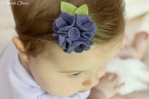 Purple Felt Flower Daisy Hair Clips - Perfect for Kids, Teens and Adult Women