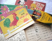 7 Vintage Coloring Activity Books Circa 1973. Dot to Dot. Make Things. Cut and Color