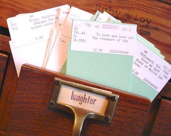 26 Vintage Authentic LIBRARY Pocket Cards