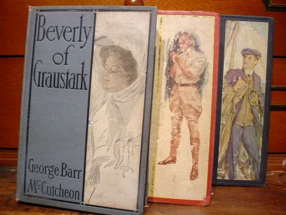 3 ANTIQUE Romance Novels Illustrated BOOKS Edwardian Aristocracy and Heiresses REDUCED