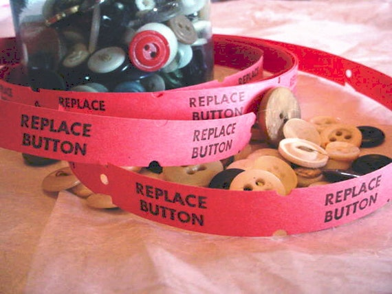 Old Replace Button Tags. 3 yards. and other dry cleaning ephemera.
