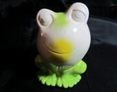 Vintage Frog Bank, Made in Japan, Childs Bank, Retro Frog Bank, Smiling Frog Bank, Home Decor Bank, Childs Room, Childs Decoration