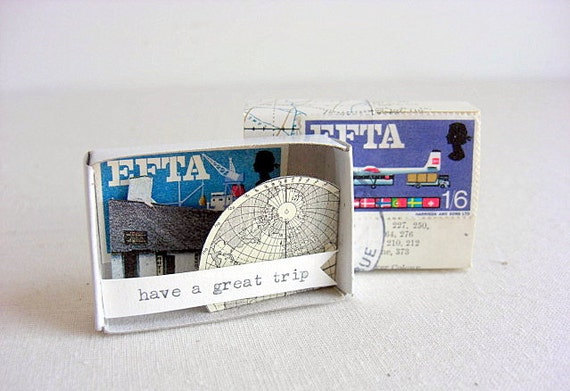 message in a matchbox // travel