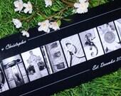 Alphabet Photography Framed Print -  8x20 - Alphabet Letter Photography