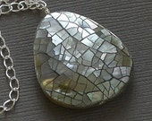 Fractured - Abalone Shell and Sterling Silver Necklace