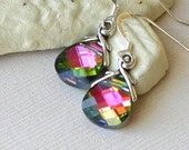 40% Off - Swarovski Crystal Briolette Earrings (petite) - Kaleidoscope