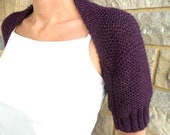 plum dark purple shrug ,spring gifts for women,no need to wear cardigan on a windy day