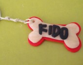 Fido Bone Keychain--Dog Chow and Kitty Litter
