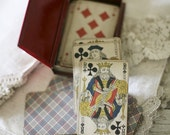 french playing cards in case