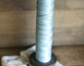 ribbon on wooden bobbin