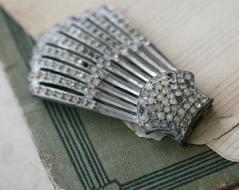 old rhinestone clip