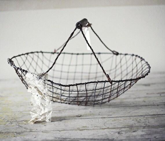 antique wire basket