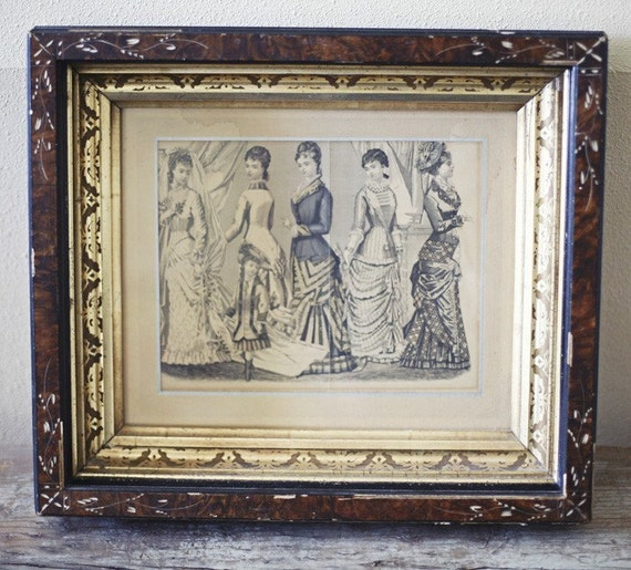 victorian frame and print
