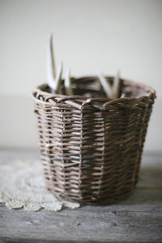 How To Weave A Basket Out Of Twigs : Woven twig basket by sadieolive on etsy