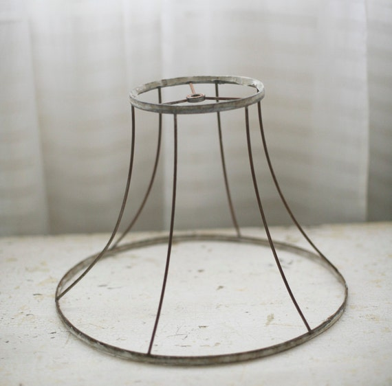 Wire lampshade restyle crafthubs wire frame lampshade by sadieolive on etsy greentooth Images
