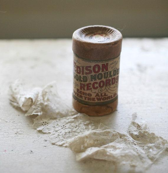 vintage edison record tube