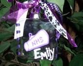 Square Glass Cheer Ornament