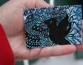 Wind, Original Crow Aceo