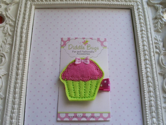 Fresh Key Lime and Strawberry Cupcake With Bow by DiddlebugsAndMe