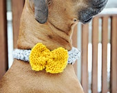 Doggie Knitted Neck Wear in Mustard and Gray