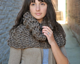 Barley Oversized Tall Cowl - Fall/Winter, Holiday Gift, Scarf