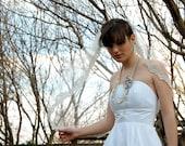 Alencon lace edge veil