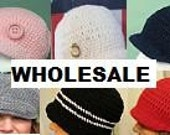 Wholesale Lot of ANY 6 crochet hats