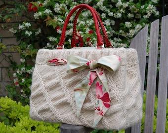 Oblique Ruched Bag PDF Knitting Pattern Instant Download