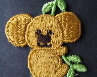 vintage koala appliqué patch. 1970's australian bear trim. deadstock.