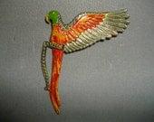 Art Deco Parrot Brooch
