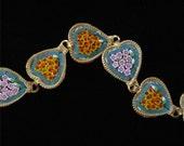 Mini Mosaic Heart Bracelet, Made in Italy