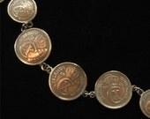 Icelandic Aurar 1942 Coin Bracelet, Konungur Islands