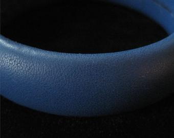 1980's Blue Leather Bangle, Australia