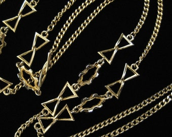 Geometric Link Chain Necklace, 1970's