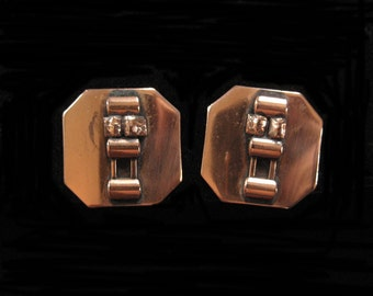 Mid Century Modern Copper Earrings