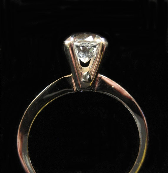 sterling silver avon solitaire ring clear size 6 by