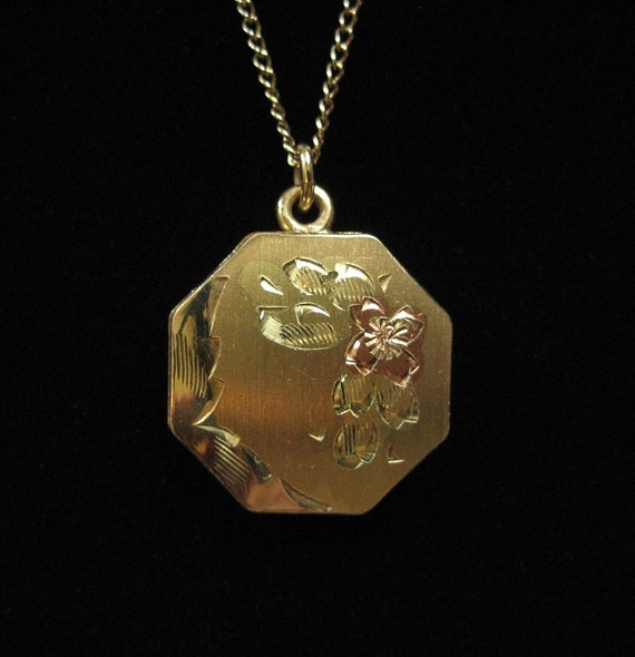 Gold Filled Locket on Chain