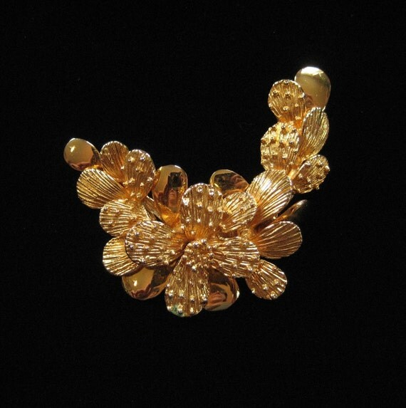 Gold Plated Cactus Brooch