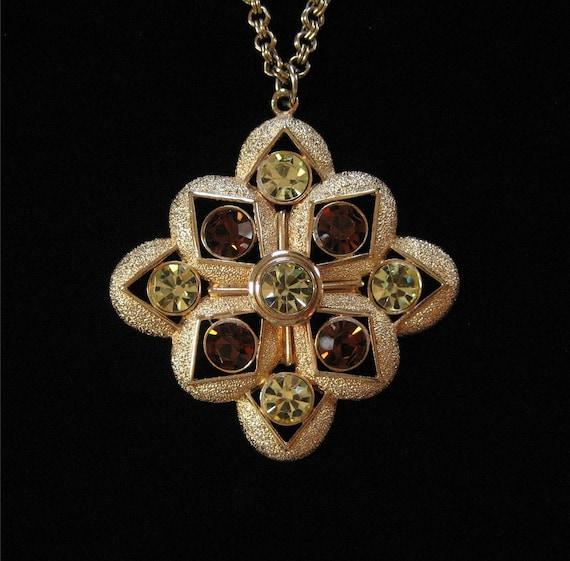 Sarah Coventry 1975 Starburst Pendant Necklace