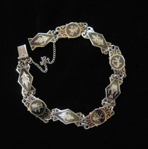 Siam Sterling Nielloware Bracelet