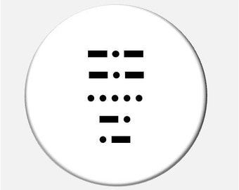Your Callsign in Morse Code Pinback Button 2.25