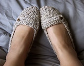 Cozy Oatmeal Slippers