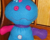 Skeeter Doll - Turquoise, Pink, and Purple