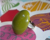 Green Apple Oval Ring