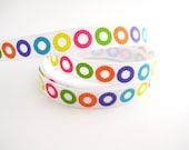 Bright Circles Ribbon - 1 Yard of 3/8 inch Ribbon