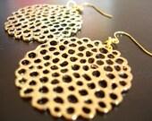 Golden Lotus Pod Earrings